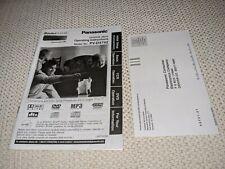 ORIGINAL Panasonic PV-D4742 owners manual instructions w/Registration info card
