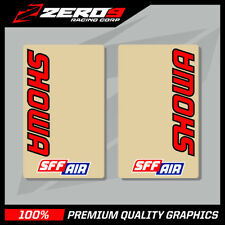 SHOWA UPPER FORK DECALS MOTOCROSS GRAPHICS MX GRAPHICS CLEAR SSF AIR