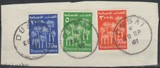 1961 UAE United Arab Emirates TRUCIAL STATES, used in Dubai, on piece [sr3158]