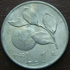 1949  Repubblica Italiana  1 lira