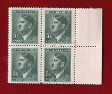 WW2 Nazi Germany 3rd Reich Hitler head B&M 5K value bust stamp block MNH