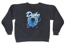 Kids Vintage 90's Duke University Crewneck Sweatshirt Size YOUTH XL Black