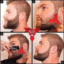 The BEARD NINJA - Beard Shaping Tool Template. Beard shaper Moustache Face Neck