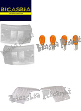 6579 - KIT GEMME BIANCHE FRECCE + LAMPADINE ARANCIONI VESPA 125 150 200 PX