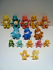 15 Vintage Care Bears Miniatures Figures PVC Poseable Cake Toppers Lot