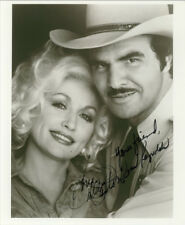 DOLLY PARTON & BURT REYNOLDS SIGNED PHOTO 8X10 RP AUTOGRAPHED PICTURE