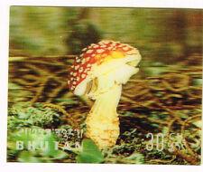 Bhutan Flora Mashrooms 3D stamp 1969 MLH