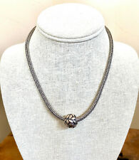 """Heavy Silpada N0603 Wheat Chain Necklace with Removable Bead Ball 17""""  Omega"""