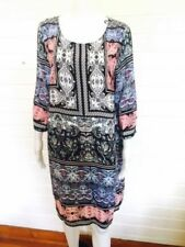 Regular Size Viscose Paisley Dresses for Women