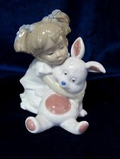 NEW NAO BY LLADRO HOW SOFT ARE YOU #1880 BRAND NEW IN BOX GIRL RABBIT CUTE F/SH