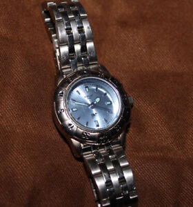 Relic Wet by Fossil Silver Tone Blue-Dial Date Womens Watch ZR11603