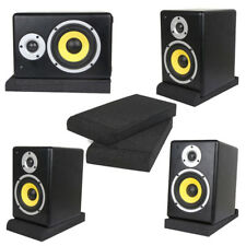 1Set Sponge Studio Monitor Speaker Isolation Foam Pads Soundproofing Supply Tool
