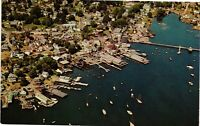 Vintage Postcard - Airview Of Boothbay Harbor Maine ME Unposted #2769