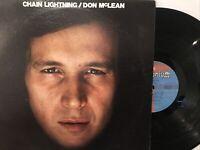 Don McLean – Chain Lightning LP 1978 Millennium – BXL1-7756 VG+