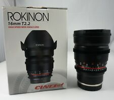 Rokinon Cine DS 16mm T2.2 Wide Angle Cine Lens for Sony E Mount NEX - DS16M-NEX
