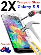 2x Scratch Resist Tempered Glass Film Screen Protector for Samsung Galaxy S5 S V