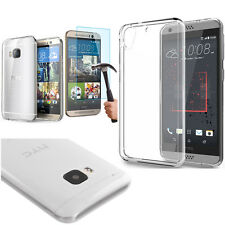 Transparent Crystal Clear Case Cover Gorilla tempered glass For HTC / Samsung