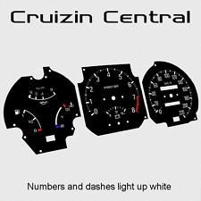 Plastic BLACK DIALS Mazda RX7 series 2 and 3 gauge dash tacho speedo