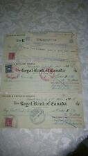1946 TORONTO MOTORCYCLE CLUB CANCELED CHEQUES ROYAL BANK OF CANADA