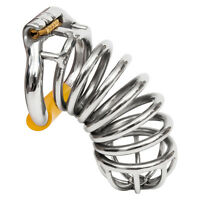 USA SHIP S062 Stainless Steel Male Chastity Cage Device- Large Ring