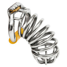 """USA SHIP S062 Stainless Steel Male Chastity Cage Device- Large 2.25"""" Ring"""