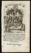 santino incisione 1600 S.MARINO M. DI ROMA