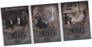 """Buffy 10th Anniversary - 3 Card """"Leader Of Slayers"""" Chase Set L-1 L-2 L-3 (2007)"""
