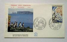 enveloppe premier jour FRANCE 1972  ILES CROZET ET KERGUELEN -découvertes
