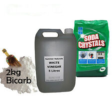 White Vinegar 5L, 2KG Bicarbonate of Soda & 1KG Soda Crystals