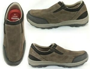 Wrangler Men's Genuine Suede Gan Memory Foam Loafers SlipOn Shoe 7NWT Brown #282