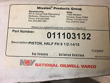 Mud Pump Piston Half FH 5 1/2 - 14/15 Mission 011103132 National Oilwell Varco