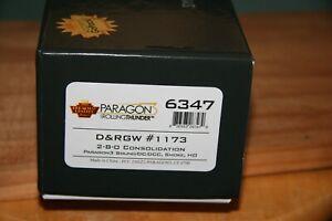 BLI  #6347 D&RGW 2-8-0 #1173 W/PGON 3 DCC/SOUND HO SCALE NEW RUN