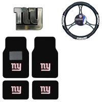 New NFL New York Giants Car Truck Floor Mats Steering Wheel Cover & Emblem