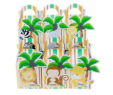 SAFARI JUNGLE ANIMAL PARTY BOX BABY KID SHOWER LOLLY BAGS SUPPLIES DECORATIONS