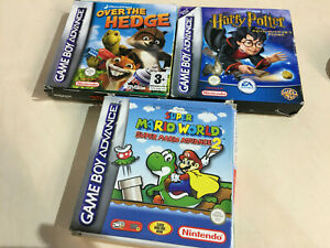 Super Mario Advance 2, Over the Hedge & Harry Potter Game boy Advance boxes only