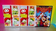 Veggie Tales Christmas Classics + Flintstones Christmas Carol - Movie DVD Lot