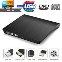 External USB 3.0 DVD RW CD Writer Drive Burner Slim Player Reader for Laptop MAC