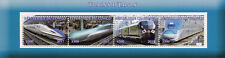 Congo 2017 MNH Japanese Trains from Japan 4v M/S Railways Rail Stamps