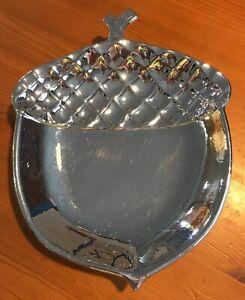 SLATKIN & CO Acorn Plate, Silver-Tone