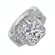 Radiant Cut Diamond Engagement Ring 3.00 Carat GIA Certified 18k White Gold