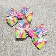 Set of 2 care bears hair bow toddler girl nonslip clip