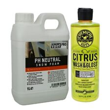 VALETPRO NEUTRAL 1 litro & CG cítricos Wash GLOSS 473 ml Kit