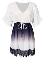AMZ Plus Size L - 5XL Women Dress Casual Party Evening Short Mini Chiffon Dress