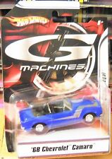 G Machines 2007 Hot Wheels 1968 Chevrolet Camaro Blue1/50 Scale Ships World Wide