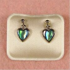 Paua Jewelry - Pd Plated Heart Stud Earrings (PE136)