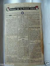 TRACT 2ème GM LE COURRIER DE L'AIR  N°18 RAF 1943