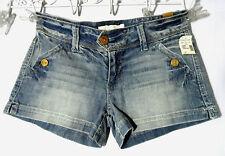 Nwt MAURICES Jean Shorts 3/4 Medium wash Button detail Boho Indie Fall Mini