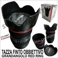 TAZZA MUG FINTO OBBIETTIVO CANON RED RING EF 24-105 CON COPERTURA ANTIRIFLESSO