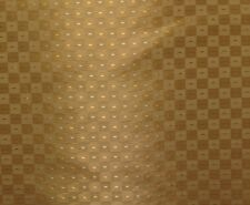 """VANGUARD GOLD #34 CHECKER SPARKLE SHIMMER MULTI-USE FABRIC BY THE YARD 58""""W"""