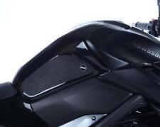R&G claro 'Eazi-Grip' el tanque de combustible de tracción apretones para Kawasaki Z900, 2017 a 2018